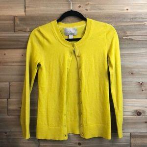 ⭐️ Banana Republic Wool Mustard Cardigan Size S ⭐️